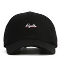 """""""This soft baseball cap features an embroidered underlined """"""""Pigalle"""""""" letter at front and an """"""""XIIAM"""""""" letter at wearer's back side. Interior includes printed taping and a moisture absorbing sweatband. The six panel construction features breathable eyelets with a curved visor and button at top. Open back has an adjustable strapback.   - Style: Curved visor strapback - Material: Made of 100% Cotton - Color: Black - Size: 56.5~58.5 cm Adult free (Strap adjustable) - Feature: NONAME Pigalle ballcap. - Country of manufacture: Made in VIETNAM - Have a closure behind to increase/decrease size.  Notes: Due to the light and screen setting difference, the item's color may be slightly different from the pictures. Please allow slight dimension difference due to different manual measurement."""""""