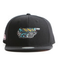"""This Snapback cap features an embroidered GHOST TRAP machine at front, a stitched flipper at wearer's back side. Interior includes printed taping and a moisture absorbing sweatband. The six panel construction features breathable eyelets with a flatted  visor and button at top. Open back has an adjustable snapback.   - Style: Flat visor snapback cap - Material: Made of Acrylic wool - Color: Black - Size: 56.5~58.5 cm Adult free (Snap adjustable) - Feature: Flipper embroidered GHOST TRAP machine snapback - Country of manufacture: Made in VIETNAM - Have a closure behind to increase/decrease size.  Notes: Due to the light and screen setting difference, the item's color may be slightly different from the pictures. Please allow slight dimension difference due to different manual measurement."""