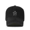 """""""This washing baseball cap features a 2D embroidered GOOD VIBES ONLY letter at front, a stitched flipper at wearer's back side. Interior includes printed taping and a moisture absorbing sweatband. The six panel construction features breathable eyelets with a curved visor and button at top. Open back has an adjustable strapback.   - Style: Curved visor baseball cap - Material: Made of 100% 14""""""""Twill - Color: Black - Size: 56.5~58.5 cm Adult free (Strap adjustable) - Feature: Flipper washing Good vibe ballcap - Country of manufacture: Made in VIETNAM - Have a closure behind to increase/decrease size. Black  Notes: Due to the light and screen setting difference, the item's color may be slightly different from the pictures. Please allow slight dimension difference due to different manual measurement."""""""