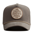 """This D Frame cap with plastic snap behind features a felt embroidered """"The Silver Brown Dance co"""" patch at front and 3D rubber """"CHRISTOPHER"""" at wearer's back side. Interior includes printed taping and a moisture absorbing sweatband. The fine panel construction features breathable eyelets with a curved visor; twisted rope between crown and visor; and button at top. Open back has an adjustable snapback.   - Style: Curved visor baseball cap - Material: Made of 97% ORGANIC COTTON 3% SPANDEX - Color: Cargo - Size: 56.5~58.5 cm Adult free (Snap adjustable) - Feature: NONAME Brown Circle cap, D TYPE - Country of manufacture: Made in VIETNAM - Have a closure behind to increase/decrease size.  Notes: Due to the light and screen setting difference, the item's color may be slightly different from the pictures. Please allow slight dimension difference due to different manual measurement."""