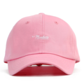 """This soft baseball cap features an embroidered underlined """"Marlette"""" letter at front and an """"XIIAM"""" letter at wearer's back side. Interior includes printed taping and a moisture absorbing sweatband. The six panel construction features breathable eyelets with a curved visor and button at top. Open back has an adjustable strapback.   - Style: Curved visor strapback - Material: Made of 100% Cotton - Color: Pink - Size: 56.5~58.5 cm Adult free (Strap adjustable) - Feature: NONAME Marlette ballcap. - Country of manufacture: Made in VIETNAM - Have a closure behind to increase/decrease size.  Notes: Due to the light and screen setting difference, the item's color may be slightly different from the pictures. Please allow slight dimension difference due to different manual measurement."""