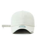 """This baseball cap features a basic plain cap with 2 metal ring at visor, a stitched flipper at wearer's back side. Interior includes printed taping and a moisture absorbing sweatband. The six panel construction features breathable eyelets with a curved visor and button at top. Open back has an adjustable embroidered long strap with metal ring.   - Style: Curved visor baseball cap - Material: Made of 100% 14""""Twill - Color: Beige - Size: 56.5~58.5 cm Adult free (Strap adjustable) - Feature: Flipper two rings ballcap - Country of manufacture: Made in VIETNAM - Have a closure behind to increase/decrease size.  Notes: Due to the light and screen setting difference, the item's color may be slightly different from the pictures. Please allow slight dimension difference due to different manual measurement."""