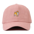 """This Strapback cap features an cute embroidered standing HACHIKO at front, a stitched flipper at wearer's back side. Interior includes printed taping and a moisture absorbing sweatband. The six panel construction features breathable eyelets with a curved visor and button at top. Open back has an adjustable strapback.   - Style: Curved visor strapback ballcap - Material: Made of 100% Cotton - Color: Pink - Size: 56.5~58.5 cm Adult free (Strap adjustable) - Feature: Flipper SHIBA INU ballcap - Country of manufacture: Made in VIETNAM - Have a closure behind to increase/decrease size.  Notes: Due to the light and screen setting difference, the item's color may be slightly different from the pictures. Please allow slight dimension difference due to different manual measurement."""