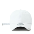 """This baseball cap features a basic plain cap with 2 metal ring at visor, a stitched flipper at wearer's back side. Interior includes printed taping and a moisture absorbing sweatband. The six panel construction features breathable eyelets with a curved visor and button at top. Open back has an adjustable embroidered long strap with metal ring.   - Style: Curved visor baseball cap - Material: Made of 100% 14""""Twill - Color: Black - Size: 56.5~58.5 cm Adult free (Strap adjustable) - Feature: Flipper two rings ballcap - Country of manufacture: Made in VIETNAM - Have a closure behind to increase/decrease size.  Notes: Due to the light and screen setting difference, the item's color may be slightly different from the pictures. Please allow slight dimension difference due to different manual measurement."""