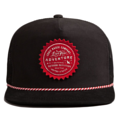 """""""This Snapback with plastic snap and mesh panels behind features a red printed felt patch at front and 3D rubber """"""""CHRISTOPHER"""""""" at wearer's back side. Interior includes printed taping and a moisture absorbing sweatband. The fine panel construction features breathable eyelets with a flat visor; twisted rope between crown and visor; and button at top. Open back has an adjustable snapback.   - Style: Flat visor mesh-snapback - Material: Made of 50% COTTON 50% POLYESTER - Color: Black - Size: 56.5~58.5 cm Adult free (Snap adjustable) - Feature: NONAME Eddie Sun snapback - Country of manufacture: Made in VIETNAM - Have a closure behind to increase/decrease size.  Notes: Due to the light and screen setting difference, the item's color may be slightly different from the pictures. Please allow slight dimension difference due to different manual measurement."""""""