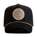 """This D Frame cap with plastic snap behind features a felt embroidered """"The Silver Brown Dance co"""" patch at front and 3D rubber """"CHRISTOPHER"""" at wearer's back side. Interior includes printed taping and a moisture absorbing sweatband. The fine panel construction features breathable eyelets with a curved visor; twisted rope between crown and visor; and button at top. Open back has an adjustable snapback.   - Style: Curved visor baseball cap - Material: Made of 97% ORGANIC COTTON 3% SPANDEX - Color: Black - Size: 56.5~58.5 cm Adult free (Snap adjustable) - Feature: NONAME Brown Circle cap, D TYPE - Country of manufacture: Made in VIETNAM - Have a closure behind to increase/decrease size.  Notes: Due to the light and screen setting difference, the item's color may be slightly different from the pictures. Please allow slight dimension difference due to different manual measurement."""