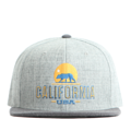 """This Snapback cap features an embroidered CALIFORNIA sunny view at front, a stitched flipper at wearer's back side. Interior includes printed taping and a moisture absorbing sweatband. The six panel construction features breathable eyelets with a flatted  visor and button at top. Open back has an adjustable snapback.   - Style: Flat visor snapback cap - Material: Made of Acrylic wool - Color: Grey.Charcoal - Size: 56.5~58.5 cm Adult free (Snap adjustable) - Feature: Flipper embroidered CALIFORNIA snapback - Country of manufacture: Made in VIETNAM - Have a closure behind to increase/decrease size.  Notes: Due to the light and screen setting difference, the item's color may be slightly different from the pictures. Please allow slight dimension difference due to different manual measurement."""