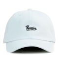 """This Baseball cap with a leather strap behind features an embroidered """"PREMIER"""" brand name at front and a stitched PREMIER at wearer's back side. Interior includes printed taping and a moisture absorbing sweatband. The six panel construction features breathable eyelets with a curved visor and button at top. Open back has an adjustable strapback.   - Style: Curved visor baseball cap - Material: Made of 100% Cotton - Color: White - Size: 56.5~58.5 cm Adult free (Strap adjustable) - Feature: PREMIER Script baseball cap. - Country of manufacture: Made in VIETNAM - Have a closure behind to increase/decrease size.  Notes: Due to the light and screen setting difference, the item's color may be slightly different from the pictures. Please allow slight dimension difference due to different manual measurement."""