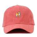 """This Strapback cap features an cute embroidered standing HACHIKO at front, a stitched flipper at wearer's back side. Interior includes printed taping and a moisture absorbing sweatband. The six panel construction features breathable eyelets with a curved visor and button at top. Open back has an adjustable strapback.   - Style: Curved visor strapback ballcap - Material: Made of 100% Cotton - Color: Red - Size: 56.5~58.5 cm Adult free (Strap adjustable) - Feature: Flipper SHIBA INU ballcap - Country of manufacture: Made in VIETNAM - Have a closure behind to increase/decrease size.  Notes: Due to the light and screen setting difference, the item's color may be slightly different from the pictures. Please allow slight dimension difference due to different manual measurement."""