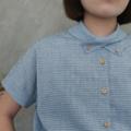 :: KUBI SHIRT :: ~ Cotton x Linen ~ Free Size ~ Chest width : 43 inches ~ Length : 23.5 inches ~ Shoulder Line : seamless ~ 690THB. ~ Color : ฟ้า Blue  #เสื้อผ้าผู้หญิง #เสื้อผู้หญิง #เสื้อเชิ้ต #เสื้อเชิ้ตผู้หญิง #เสื้อเชิ้ตแขนสั้น #เสื้อแขนสั้น