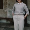 ":: NOBI SHIRT :: • Linen • Grey mix Brown Color • Chest Width 39"" • Length 24.5"" • 690THB. **สีเทาอมน้ำตาล**  #เสื้อผ้าผู้หญิง #เสื้อผู้หญิง #เสื้อแขนยาว"