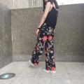 กางเกงขายาว Gang toursers : ลายดอกกรม กางเกงขากระบอก  ผ้าหนังกบ มี2ไซส์นะคะ เช็คไซส์ได้จากรูปสุดท้าย ด้านหลังเป็นสม้อค  สี : กรม Navy ลายดอก  #กางเกง #กางเกงผู้หญิง #กางเกงขายาว #กางเกงขายาวผู้หญิง #กางเกงผู้หญิงขายาว #กางเกงเอวสูง