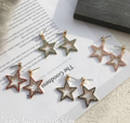 ต่างหู Jewel Star Korea ขนาด: 4 ซม. วัสดุ: โลหะอัลลอย ========== จัดส่ง จ-ศ ตัดรอบ 8.00น