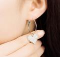 ต่างหู Love Diamond ต่างหู ต่างหูห่วง แบบห่วง ขนาด 4.9 ซม.  วัสดุ: โลหะอัลลอย ========== จัดส่ง จ-ศ ตัดรอบ 8.00น