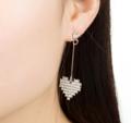 ต่างหู Love Diamond ต่างหู ต่างหูระย้า แบบระย้า ขนาด 7.4 ซม. วัสดุ: โลหะอัลลอย ========== จัดส่ง จ-ศ ตัดรอบ 8.00น