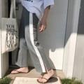 """🐰Straight jogger pants กางเกงสไตล์วอร์มสุดฮิต ใส่กับเสื้อยืดได้ทุกแบบ เนื้อผ้าคัตคิ้งดี ดีไซน์แหวกข้าง ซ้าย-ขวา เนื้อผ้ายืด ทิ้งตัว เอวยืดแบบแถบตรง must have ฮ่ะ color: เทา l ดำ size: freesize  เอวยืด(เป็นแถบ) 22-30"""" ยาว 37"""" 🔖price: 450.-  #กางเกง #กางเกงขายาว #กางเกงผู้หญิง #กางเกงขายาวผู้หญิง #กางเกงผู้หญิงขายาว"""