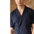Draping button - up shirt  color: กรม Navy material : oxford shirt  price: 990 THB   #grounderbkk #เสื้อผ้าผู้ชาย #เสื้อผู้ชาย #เสื้อเชิ้ต #เสื้อเชิ้ตแขนสั้น