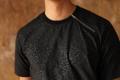 Black with textured pixel - T shirt color : ดำ black  price : 990 THB   #grounderbkk #เสื้อผ้าผู้ชาย #เสื้อผู้ชาย #เสื้อยืด #เสื้อยืดผู้ชาย #เสื้อยืด #เสื้อยืดคอกลม #เสื้อยืดแขนสั้น #เสื้อแขนสั้น