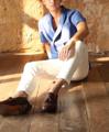 Draping button - up shirt  color: ฟ้า Blue material : oxford shirt  price: 990 THB   #grounderbkk #เสื้อผ้าผู้ชาย #เสื้อผู้ชาย #เสื้อเชิ้ต #เสื้อเชิ้ตแขนสั้น