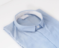Blue -mini inside white collar shirt  color : ฟ้า sky blue material : cotton oxford  price : 1,090 THB  #เสื้อผ้าผู้ชาย #เสื้อผู้ชาย #เสื้อเชิ้ต #เสื้อเชิ้ตแขนยาว #เสื้อเชิ้ตผู้ชาย
