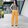 Long & Width Yellow Pants Fabric : Cottons Color : เหลือง Yellow  Detail : - Cottons - Long and Wide - Style and comfortable wear  Size : Small / Medium  #กางเกง #กางเกงผู้หญิง #กางเกงขายาว #กางเกงขายาวผู้หญิง #กางเกงผู้หญิงขายาว