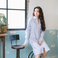 "One Fine Day Dress Shirts GRAY Fabric : Cotton Color : เทา Light Gray Chest : 42"" Length (Arm) : 23.5"" Length (Front) : 40.5"" Length (Back) : 43""  Detail :  - Cotton Fabric - Chest pocket (Hidden) - 2 side pockets  - Casual and comfortable to wear   - Model Height : 160 cm.  #เดรส #เดรสยาว #เดรสยาวแขนยาว #เดรสแขนยาว"