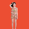 """Floral Cropped Ivory Fabric : Combed Cotton Twill Color : Ivory, Dark Blue  Size : Free Size  รอบอก 34"""" ( ได้ถึง 36"""" ) ยาว 17""""  Detail : เสื้อแขนกุด ทรงสั้น เนื้อผ้าใส่สบาย มีซัปในทั้งตัว มีซิปหลังเป็นซิปซ่อน ……………………… Floral Shorts Fabric : Combed Cotton Twill Color : Ivory, Dark Blue  Size : Free Size  เอว 23"""" ( ขยายได้ถึง 30"""" ) สะโพก 38"""" ยาว 14""""  Detail : กางเกงขาสั้น เอวมียางยืดซ้ายขวาเพื่อเพิ่มขนาดเอวให้สาวๆได้ถึง 6-7""""  #เสื้อผู้หญิง #เสื้อผ้าผู้หญิง #เสื้อครอป #เสื้อครอปแขนกุด #กางเกง #กางเกงขาสั้น #กางเกงขาสั้นผู้หญิง #กางเกงผู้หญิง #กางเกงผู้หญิงขาสั้น"""