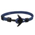 สร้อยข้อมือ (สี น้ำเงิน กรมท่า ) หัวสมอสีดำ   ความยาว 21 cm.  Black Anchor Bracelets Men Charm 550 Survival Rope Chain Paracord Bracelet Male Wrap Metal Sport Hooks   PS.- ส่งฟรี!
