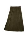 กระโปรงผ้ากำมะยี่อัดพลีท สีเขียว ทรงสวย มีเข็มขัดห่วง  เอว 24 - 32 สะโพก Free ยาว 28  **สินค้าพร้อมจัดส่ง**  #กระโปรง #กระโปรงยาว #กระโปรงทรงดินสอ