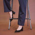 "— Stripe Pants — Available Colour: น้ำเงิน Blue, กากี Khaki Size: S (เอว 26"") Size: M (เอว 28"")  #กางเกง #กางเกงผู้หญิง #กางเกงขายาว #กางเกงขายาวผู้หญิง #กางเกงผู้หญิงขายาว"