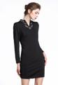 """เน้นความเก๋ไก๋เรียบหรูไปกับชุดเดรสเข้ารูปผลิตจากผ้าสีพื้นเพิ่มความสง่างาม ล้ำค่าด้วยการปักคริสตัลเป็นรูปใบไม้ ไล่ระดับบริเวณคอเสื้ออย่างไร้ที่ติจากแบรนด์ Mirror Dress สะกดทุกสายตาไปกับเดรสสั้นที่ให้ลุกส์หรูล้ำทันสมัย เพิ่มทรงสวยด้วยการตัดเย็บเรียบร้อยเข้าทรงสวยให้คุณคอมพลีทลุคสวยสำหรับทุกโอกาสอย่างง่ายดาย มาพร้อมเข็มขัดเข้าชุดกันอย่างดี สามารถถอดออกใส่ หรือไม่ใส่ก็ดูสวย หรูได้  - ผลิตจากผ้าโพลีเอสเตอร์ - ปิดซิปซ่อนด้านหลัง - แขนยาว - แต่งรายละเอียดปักคริสตัลช่วงคอเสื้อถึงอก - แพทเทิร์นชุดเดรสเข้ารูป  ไหล่ x รอบอก x รอบเอว x รอบสะโพก x ความยาว S ( 15"""" x 32"""" x 29"""" x 34"""" x 34"""" ) M ( 16"""" x 33.8"""" x 31"""" x 36"""" x 35"""" ) L ( 17"""" x 36"""" x 33"""" x 38"""" x 36"""" ) XL ( 18"""" x 38"""" x 35"""" x 40"""" x 37"""" ) XXL ( 19"""" x 40"""" x 37"""" x 42"""" x 38"""" )"""