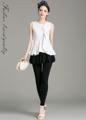 """ดูสวยในสไตล์คลาสสิกในวันทำงานได้ง่ายๆด้วยเซ็ทเสื้อเบลาส์และกางเกงจาก Mirror Dress ที่เลือกใช้โทนสีเดี่ยวมาตัดเย็บในผ้ายืดเข้าชุด  เสื้อ: - ผลิตจากผ้าโพลีผสม - คอกลม - แขนกุด - แบบสวม - ทรงปกติแต่งระบายและเดฟ  กางเกง: - ผลิตจากผ้าโพลีผสม - พร้อมกระโปรงกันโป๊ - ขนาดพอดี - เสริมขอบยางยืด  เสื้อ: ไหล่ x รอบอก x ความยาว - S ( 13"""" x 32"""" x 22"""") - M ( 14"""" x 34"""" x 22.6"""") - L ( 15"""" x 36"""" x 23"""")  กางเกง: รอบเอว x รอบสะโพก x ความยาว - S (26"""" x 34"""" x 36"""") - M (28"""" x 36"""" x 36.5"""") - L (30"""" x 38"""" x 37"""")"""