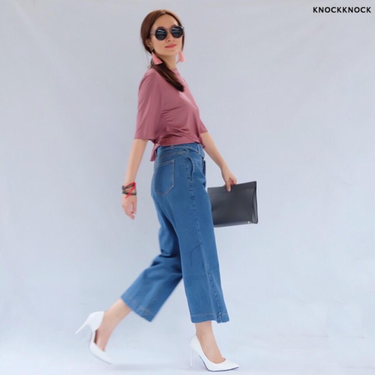 KnockKnock,เสื้อผ้าผู้หญิง,กางเกง,กางเกงขายาว,กางเกงผู้หญิง,กางเกงขายาวผู้หญิง,กางเกงผู้หญิงขายาว,กางเกงยีนส์,กางเกงยีนส์ขายาว