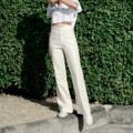 "Color: Ivory Tone **เพิ่มเติมรุ่นสี Ivory Tone ไม่มีเข็มขัดนะคะ  Size : Waist / Hip / Length S : 25""- 26""/ 35""- 36""/ 40"" M : 27""- 28""/ 37""- 38""/ 41""  #กางเกง #กางเกงขายาว #กางเกงผู้หญิง #กางเกงผู้หญิงขายาว #กางเกงขายาวผู้หญิง"