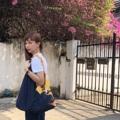 ชื่อสินค้า : Midnight Blue Tulip fabric : cotton and printed design quality  size : 46 x 40 cm. strap 38 cm. 3 pocket in bag & snap botton - Handmade with Love -  #กระเป๋า #กระเป๋าผ้า #กระเป๋าสะพาย #กระเป๋าถือ #กระเป๋าผู้หญิง