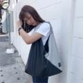 ชื่อสินค้า : Cloud n coal color : เทา grey fabric : Leather  size : 10 x 50 x 40 cm. strap 38 cm. 3 pocket in bag & snap botton - Handmade with Love -  #กระเป๋า #กระเป๋าผ้า #กระเป๋าสะพาย #กระเป๋าถือ #กระเป๋าผู้หญิง