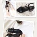 รองเท้าแตะรัดส้น สี ดำ ตกแต่ง Glitter เก๋ๆที่สายคาด  รองเท้าสไตล์นี้ ถือว่าเป็นรองเท้ายอดฮิตที่เหมาะเอาไว้ใส่เล่นก็ได้ ใส่ไปเที่ยวก็เริ่ดมาแนะนำสาวๆ กัน   คุณภาพมากับความสวย     นอกจากความสวยแล้ว รองเท้ายังมีพื้นฟองน้ำหนา 1 cm แถมยางกันลื่นติดที่ส้น เพื่อทำให้รองเท้าใส่สบายไปอีก  วัสดุอย่างดีในราคาไม่สูงจนเกินไป     วัสดุเราเลือกวัสดุ อย่างดีเพื่อผลิตในราคาที่เข้าถึงได้  มี size 35-40  (รองเท้า size มาตรฐาน) ความสูง 2cm   รองเท้า Handmade ผลิตในประเทศไทย งานคุณภาพเดียวกับขายในร้านชั้นนำ  *ใส่ไม่ได้เปลี่ยน size ได้ค่ะ   Size   ความยาวเท้า (cm .) 35.   22-22.5 36.    22.5-23 37.    23-23.5 38.    23.5-24 39.    24-24.5 40.    24.5-25  #รองเท้า #รองเท้าผู้หญิง #shoes #shoe #แตะรัดส้น #แตะสีดำ #รองเท้าใส่สบาย #black  ใส่ยังไงก็ไม่เอาท์นะคะ  :)  ข้อมูลร้าน https://www.facebook.com/missypeachy.shoes/