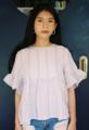 """เสื้อแขนระบายอก 36 ยาว 22 """" ผ้าลินินญี่ปุ่นทอลายทางน่ารักกกกมากค่าาา"""