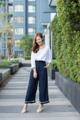 Yuki side-stripe pant