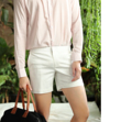 White - short shorts  material : cotton spandex price : 1,190 THB