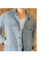 Blue Stripe - jacket  color : blue  size : S , M , L price : 1,790 THB  #grounderbkk #เสื้อสูท #เสื้อคลุม #เสื้อคลุมแขนยาว