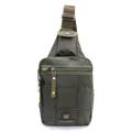 PACK UP VOLUNTEER กระเป๋าคาดอก รุ่น 1590-10 - สีเขียว  กระเป๋าสะพายคาดอก รุ่น VT 1590-10 - สีเขียว ขนาด : 17 x 8 x 39 (กว้าง x ลึก x สูง, ซม.)  - ใช้เป็นกระเป๋าคาดอก - สายสะพายหนา แข็งแรงทนทานปรับระดับได้ ตามสรีระของผู้ใช้ - มีช่องซิปด้านหน้า 2 ช่อง - ช่องซิปหลัก ใช้ซิปขนาดใหญ่เบอร์ 10 มีความทนทานสูง - ช่องซิปหลัก มีช่องซิปด้านในสำหรับแยกจัดเก็บสัมภาระ - ด้านหลังมีช่องเก็บของอเนกประสงค์อีกหนึ่งช่อง ใช้เก็บสัมภาระสำคัญติดตัว เช่น ธนบัตร, Passport หรือ เครื่องเล่น MP3 เป็นต้น สามารถเจาะเพื่อให้สายหูฟังรอดผ่านออกมาจากกระเป๋าได้