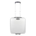 """PACK UP กระเป๋าเดินทาง สำหรับถือขึ้นเครื่อง รุ่น Carry-on-001 (สีขาว) ขนาด : 38 x 20 x 42 (กว้าง x ลึก x สูง, ซม.) น้ำหนัก : 1.5 กิโลกรัม  รายละเอียดสินค้า - กระเป๋าเดินทาง Carry-on เหมาะสำหรับพกพาสัมภาระที่สำคัญขึ้นเครื่องบิน - ล้อขนาดใหญ่ 2 ล้อ ขนาดเส้นผ่านศูนย์กลาง 8 ซม. แข็งแรง ทนทาน - คันชักอลูมิเนียมคุณภาพดี สามารถปรับระดับได้ตามสรีระของผู้ใช้ - มีหูหิ้วที่ด้านบน ใต้หูหิ้วหุ้ม """"ยางซิลิโคน"""" ช่วยให้ไม่เจ็บมือขณะถือกระเป๋า - ระบบล็อคหัวซิป รหัส 3 ตัว  (3-digit Combination Lock) - ด้านในกระเป๋ามีช่องแบ่งจัดเก็บสัมภาระ และสายรัดที่มีความยืดหยุ่นช่วยรัดสัมภาระไม่ให้กระจัดกระจายระหว่างการเดินทาง"""