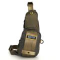 กระเป๋าสะพายคาดอก ผ้ากันน้ำ รุ่น VT 1513-24 - สีเขียว ขนาด : 13 x 5 x 38 (กว้าง x ลึก x สูง, ซม.)  - ใช้เป็นกระเป๋าคาดอก ดีไซน์ให้เข้ารูปกับสรีระ - สายสะพายปรับระดับได้ ตามสรีระของผู้ใช้ - มีช่องกระเป๋าหน้า 2 ช่อง - ช่องซิปหลัก ใช้ซิปขนาดใหญ่เบอร์ 10 มีความทนทานสูง - ช่องซิปหลัก มีตะขอสำหรับห้อยพวงกุญแจ ช่วยให้สะดวกในการหยิบใช้