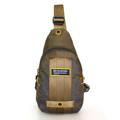 กระเป๋าสะพายคาดอก ผ้ากันน้ำ รุ่น VT 1513-21 - สีเขียว ขนาด : 17 x 7 x 32 (กว้าง x ลึก x สูง, ซม.)  - ใช้เป็นกระเป๋าคาดอก สะพายได้ทั้ง 2 ข้าง - สายสะพายปรับระดับได้ ตามสรีระของผู้ใช้ - ช่องซิปหลัก ใช้ซิปขนาดใหญ่เบอร์ 10 มีความทนทานสูง - ช่องซิปหลัก มีช่องซิปด้านในสำหรับแยกจัดเก็บสัมภาระ และมีตะขอสำหรับห้อยพวงกุญแจ ช่วยให้สะดวกในการหยิบใช้ - ด้านหลังมีช่องเก็บของอเนกประสงค์อีกหนึ่งช่อง ใช้เก็บสัมภาระสำคัญติดตัว เช่น ธนบัตร, Passport เป็นต้น