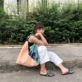 ชื่อสินค้า : Peach Coral Reef fabric : canvas and printed design quality  size : 10 x 46 x 40 cm. strap 38 cm. 3 pocket in bag & snap botton - Handmade with Love -  #กระเป๋า #กระเป๋าผ้า #กระเป๋าสะพาย #กระเป๋าถือ #กระเป๋าผู้หญิง