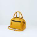 Size : W27 * H23 * D15 cm. Detachable strap : 120 cm.  Material : Premium PU leather Color : เหลืองมัสตาร์ด Mustard Detail : 1 ช่องใหญ่ เปิด-ปิดด้วยซิป / 1 ช่องซิปด้านหน้ากระเป๋า / 1 ช่องซิปเล็กด้านในกระเป๋า / อะไหล่สีดำ
