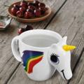 ให้การจิบกาแฟยามเช้าเป็นไปอย่างสบายๆ เพลินๆ ไปกับ Unicorn Ceramic Cup จาก Home Studio คิ้วๆ พร้อมความพิเศษตรงที่เมื่อเติมน้ำร้อนลงไป หางยูนิคอร์นจะเปลี่ยนสีค่า แนวๆแบบนี้ ควรจัดซักใบนะค้า  ความจุ: 350 ml ขนาด: 15x10x10 cm