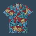 """เสื้อฮาวาย เนื้อผ้าใส่สบายด้วยผ้าคอตต้อนญี่ปุ่น Size : ไหล่18""""/อก42""""/ยาว26"""""""