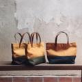 Two-Tone mini handBag (s)  Dimension: Width x Height x Base (cm.) 28 x 17 x 8   #canvasbags #madetoorderbags #bag #กระเป๋า #minimal #embroidery #tophandlebag #handbag #leather #style